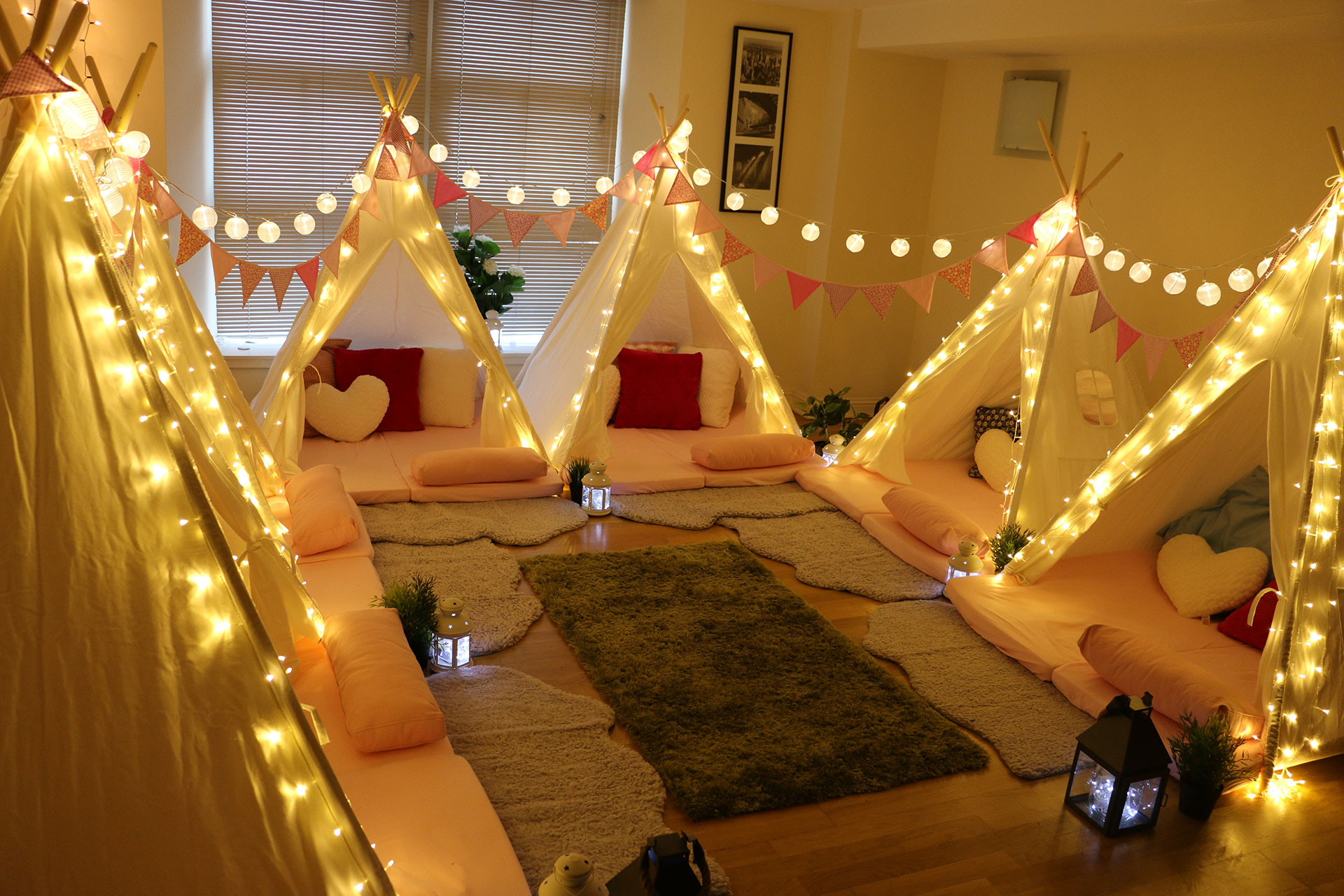 Incredible Indoor Parties | Indoor Mini Tipis
